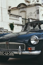 Preview iPhone wallpaper MG retro car front view