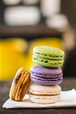 Preview iPhone wallpaper Macaron, biscuits, dessert, drinks