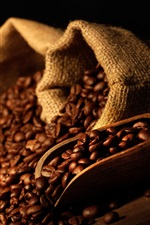 Preview iPhone wallpaper Many coffee beans, bag