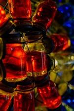 Muitos frascos de vidro