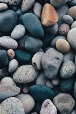 Preview iPhone wallpaper Many pebbles, stones