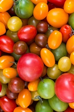 Preview iPhone wallpaper Many variety tomatoes, colorful