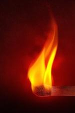 Matchstick fire, flame