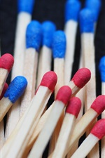 Preview iPhone wallpaper Matchsticks, red and blue