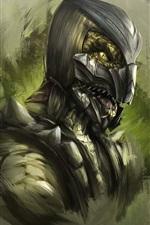 Preview iPhone wallpaper Mortal Kombat, art picture