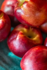 Preview iPhone wallpaper Nectarines, fruit, blurry