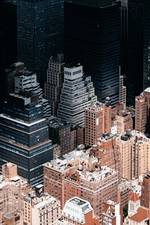 Preview iPhone wallpaper New York, USA, skyscrapers, roof, top view