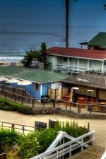 Preview iPhone wallpaper Newport Beach, sea, houses, USA