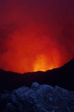 Preview iPhone wallpaper Nicaragua, Masaya Volcano, lava