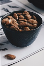 Preview iPhone wallpaper Nuts almonds