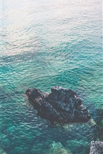 Preview iPhone wallpaper Ontario, Canada, sea, rocks