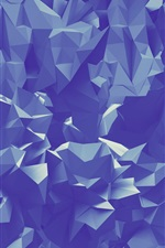 Preview iPhone wallpaper Paper folds, abstract triangles geometric