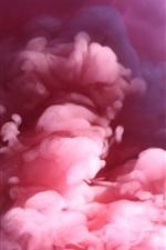 Fumo rosa, embaçado