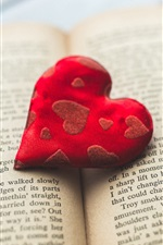 Preview iPhone wallpaper Red cloth love heart, book
