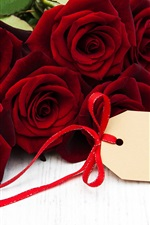 Preview iPhone wallpaper Red roses, romance, gift