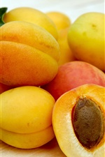 Preview iPhone wallpaper Ripe apricots, fruits close-up