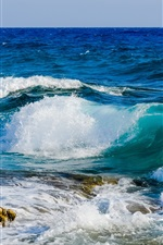 Preview iPhone wallpaper Sea, ocean, waves, water splash