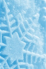 Preview iPhone wallpaper Snowflake macro photography, winter
