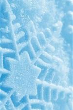 iPhone壁紙のプレビュー スノーフレークマクロ撮影、冬