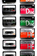Preview iPhone wallpaper Sony cassette tapes collection