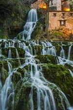 Preview iPhone wallpaper Spain, Burgos, waterfalls, beautiful nature landscape