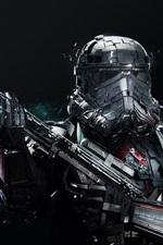 Star Wars, soldado, arma, fundo preto