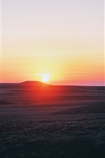 Preview iPhone wallpaper Sunset, mountains, sky, Cappadocia, Turkey