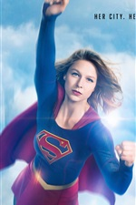 Preview iPhone wallpaper Supergirl, her city, her fight