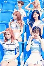 미리보기 iPhone 배경 화면 TWICE(트와이스), 한국 음악 소녀들 06
