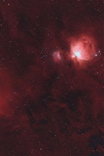 Preview iPhone wallpaper The Orion nebula, starry, space, red
