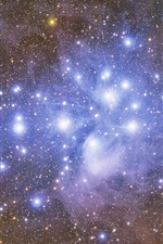 Preview iPhone wallpaper The Pleiades, star cluster, space