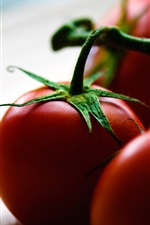 Preview iPhone wallpaper Tomatoes, plate