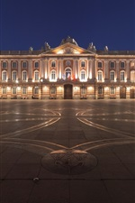 Preview iPhone wallpaper Toulouse, France, night, city, square, buildings