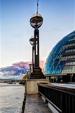 Preview iPhone wallpaper Tower Bridge, London, England, Thames, river, buildings