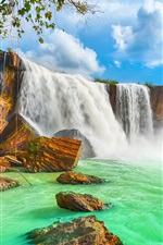 Preview iPhone wallpaper Vietnam, Dray Nur waterfall, beautiful nature landscape