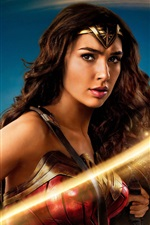 Preview iPhone wallpaper Wonder Woman, Gal Gadot, sword, light