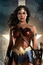 Preview iPhone wallpaper Wonder Woman, Justice League 2017