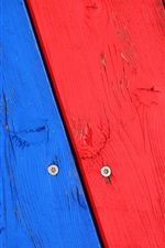 Preview iPhone wallpaper Wood board, colorful painted