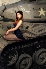 World of Tanks, sexy girl
