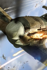 Preview iPhone wallpaper World of Warplanes, aircraft, shooting, sky
