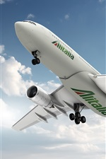 Preview iPhone wallpaper A-330 Airbus plane flight, bottom view, Italy