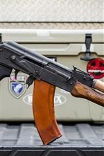 Preview iPhone wallpaper AK-47 rifle