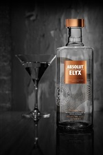 Preview iPhone wallpaper Absolut Vodka, alcohol, bottle, cup