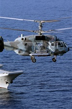 Preview iPhone wallpaper Aircraft carrier, helicopter, military