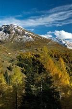 Preview iPhone wallpaper Alps, Austria, mountains, trees, clouds, autumn, Salzburg