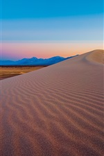 Preview iPhone wallpaper Amargosa Dunes, Nevada, USA, mountain, desert, dusk