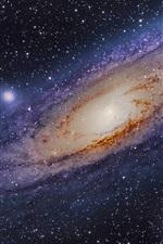 Galáxia Andromeda, estrelas, espaço