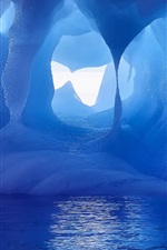 Preview iPhone wallpaper Antarctic, ice, snow, water, blue