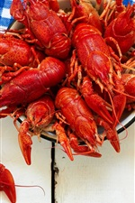 Preview iPhone wallpaper Appetizer, lobster, beer