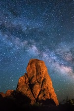 Preview iPhone wallpaper Arches National Park, Utah, night, stars, sky